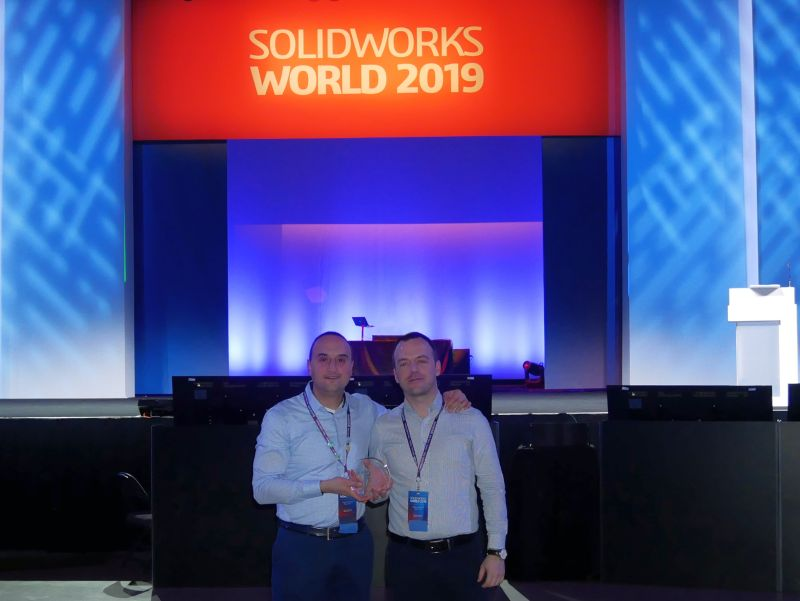 ДиТра с поредно признание на <strong>SolidWorks</strong> <strong>World</strong> 2019