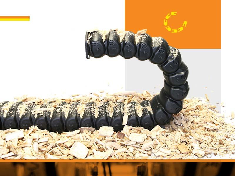 <strong>Кабеловодещи</strong> <strong>вериги</strong> за 100% защита от стружки, стърготини и други замърсявания