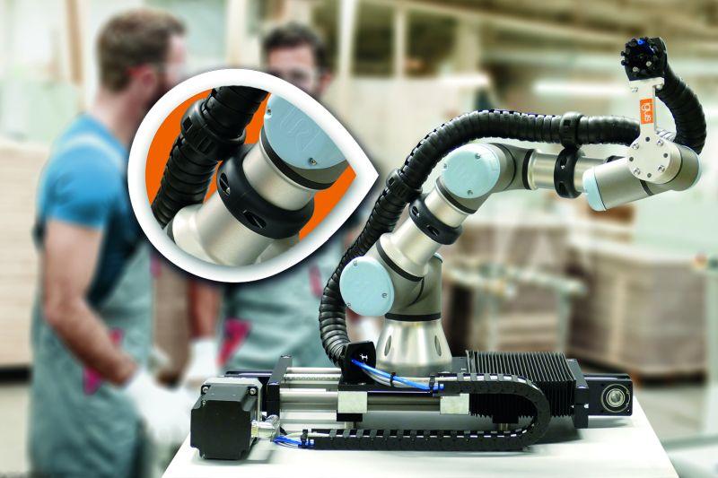 Специализирани захранващи системи за коботи - бърз монтаж, сигурна фиксация и безопасна работа
