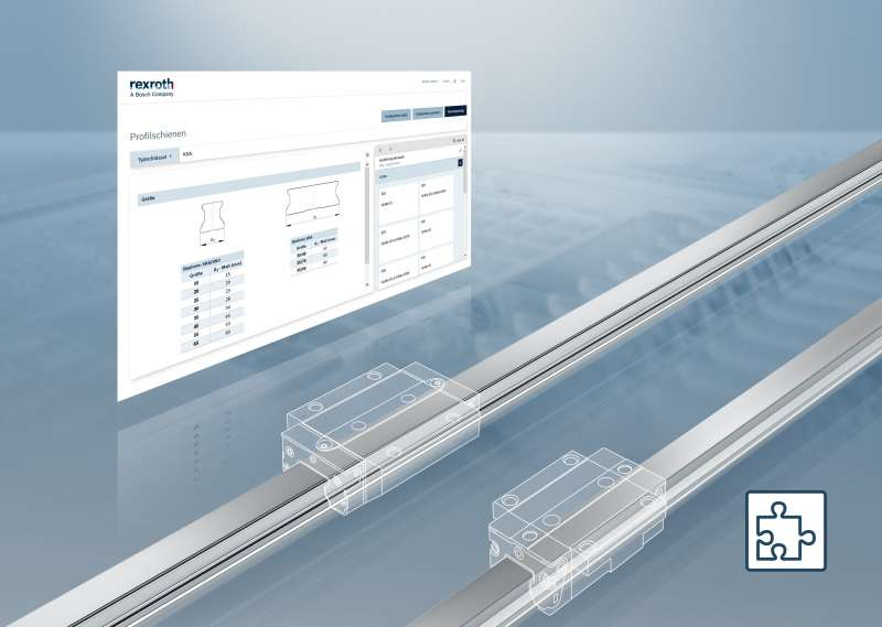Bosch Rexroth представи нов онлайн конфигуратор за призматични направляващи